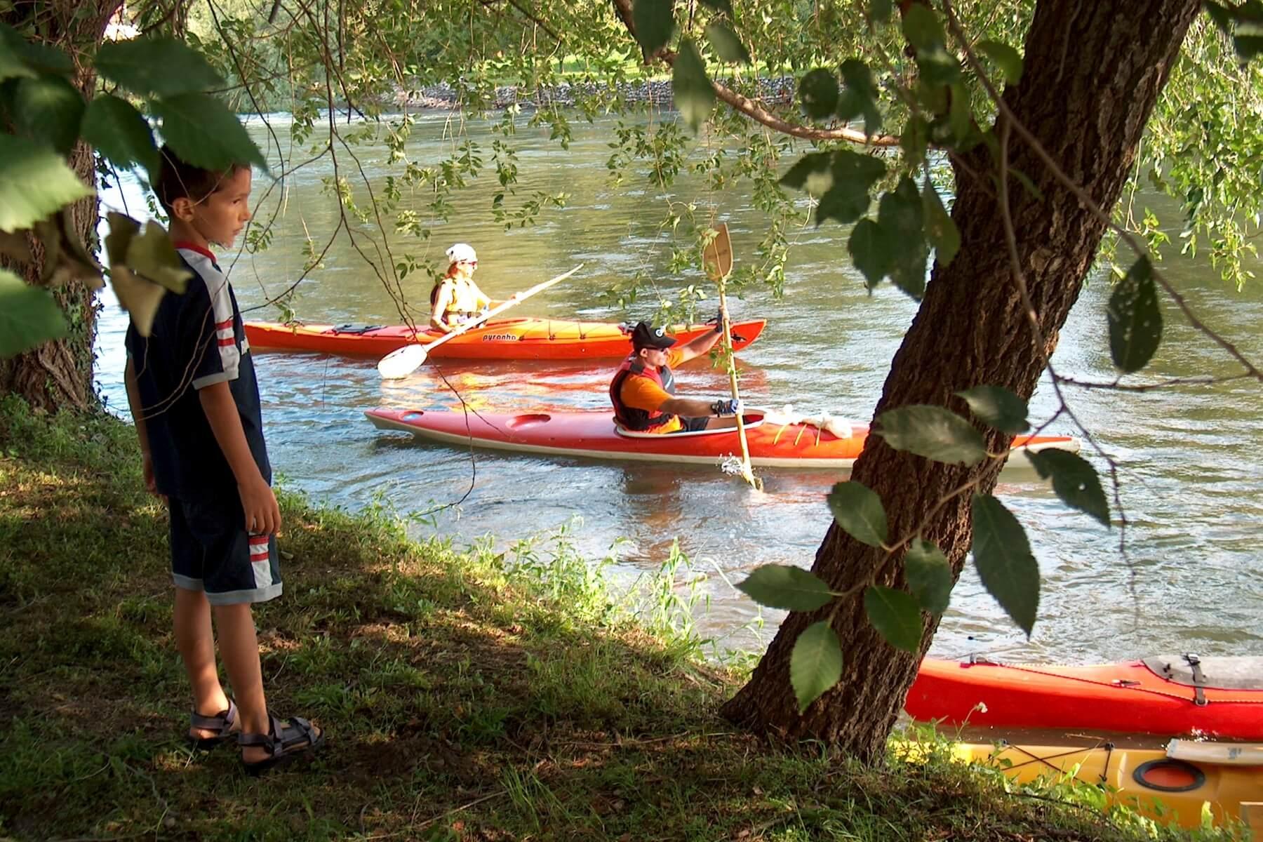 Kajakken Mincio rivier