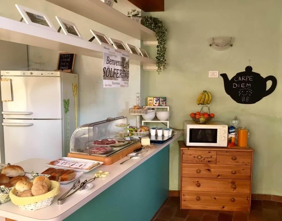 Ontbijtbuffet bij Carpe Diem - logeren bij Belgen bij het Gardameer