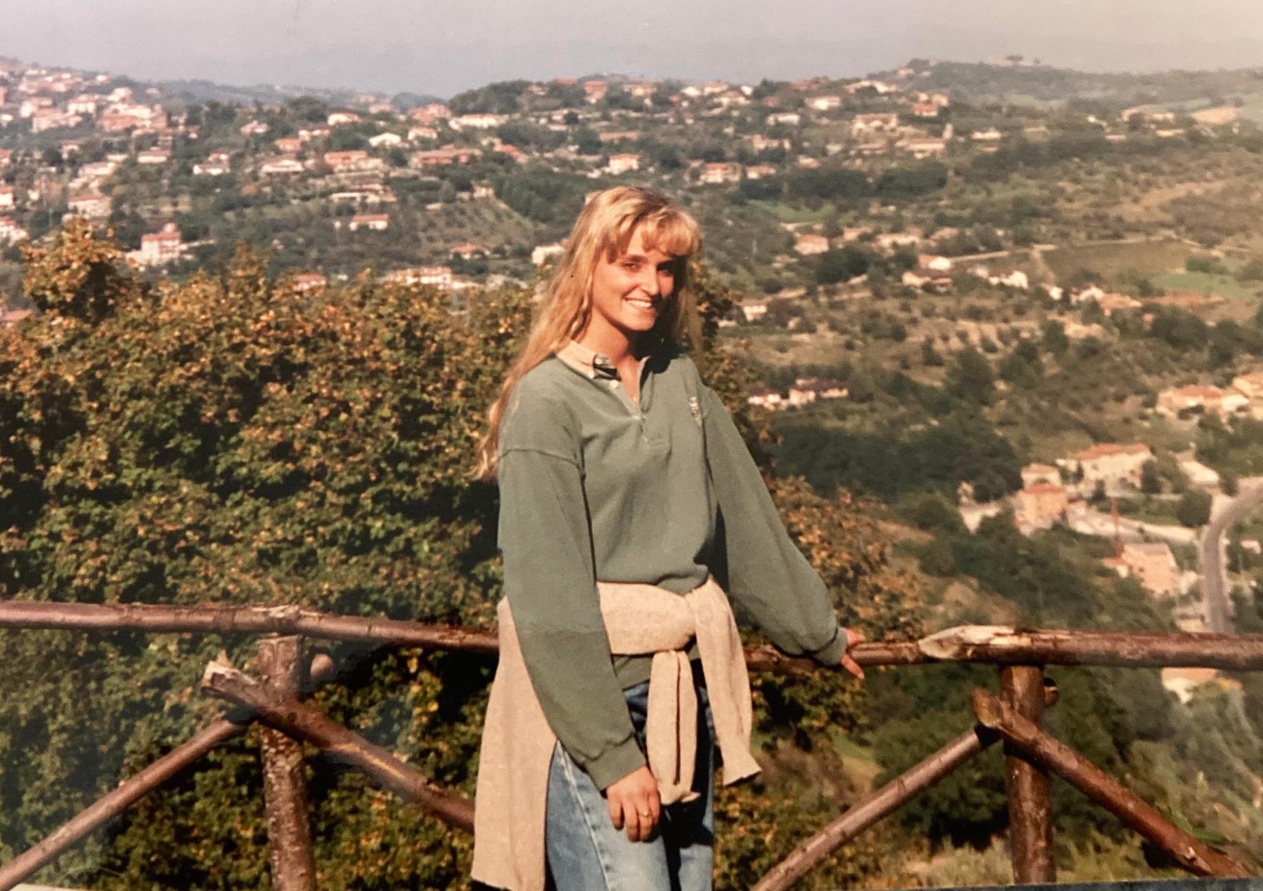 Perugia uitzicht op de heuvels