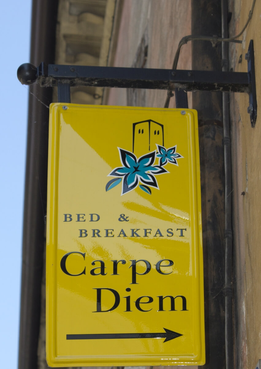 Uithangbord Bed & Breakfast Carpe Diem